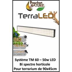 TM 50W 60cm - Rampe TerraLed horticole pour terrarium - Simple à utiliser et performante