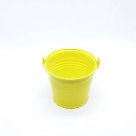Pot zinc diamètre 6cm - Couleur Jaune