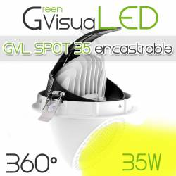 SPOT 35w Encastrable GreenVisuaLED - Orientable à 360°