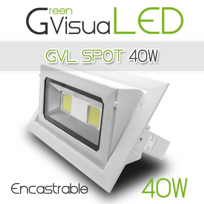 Spot led 40w encastrable et orientable 360 eclairage for Changer spot encastrable plafond
