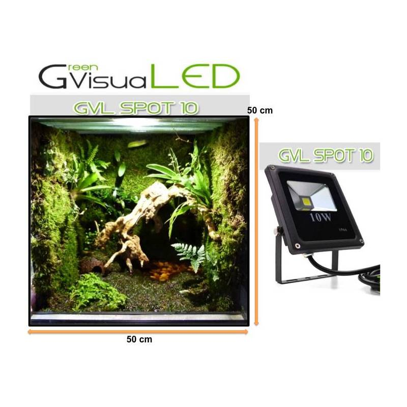 spot led 10 w greenvisualed ip65 eclairage led pour mur. Black Bedroom Furniture Sets. Home Design Ideas