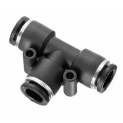 Raccord rapide - T 6-4-6 mm - Raccord instantané polymère Prevost