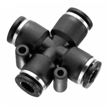 Croix égale 6 mm - Raccord instantané polymère Prevost
