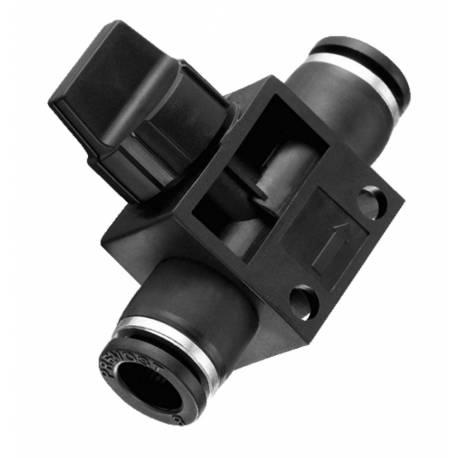 Vanne manuelle 6mm - Raccord instantané polymère Prevost